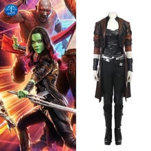 MANLUYUNXIAO gardiens de la galaxie 2 Cosplay déguisement Gamora Cosplay ensemble complet super-héros Halloween fête femmes adulte sur mesure