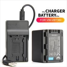 VW-VBT380 VW-VBT190 Batterie + Chargeur USB pour Panasonic HC-V727 HC-V750 HC-V757 HC-V770 HC-V250 HC-V260 HC-V130 HC-VX870 HC-W570