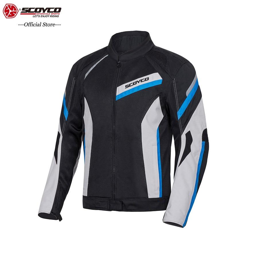 Chaqueta de motocicleta SCOYCO JK100, ropa deportiva transpirable cómoda de verano, chaqueta protectora para motocross de hombre MBX/MTB/ATV