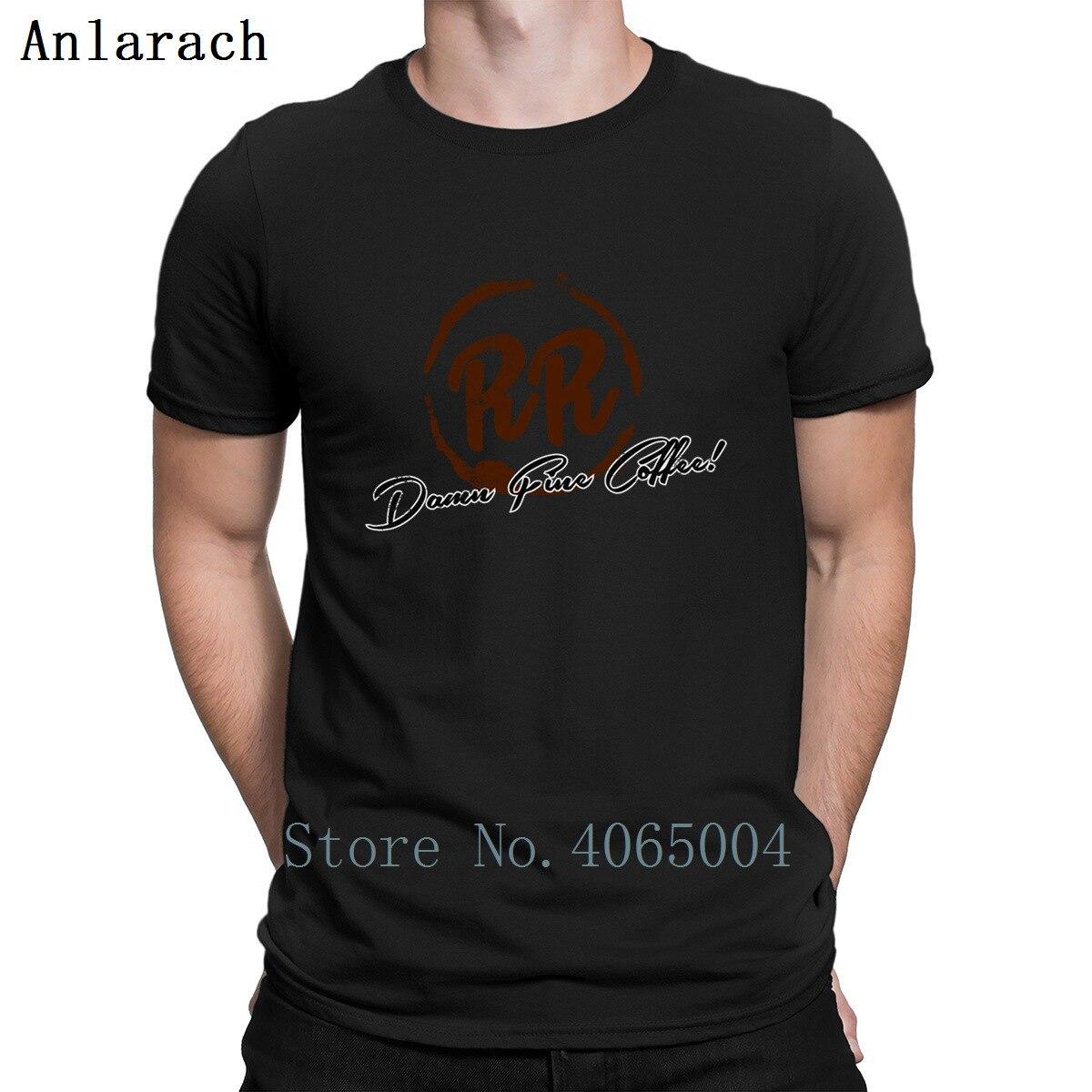 Twin Peaks doble comedor moda diseño de manga corta Camiseta de cuello redondo familia interesante camisa de verano