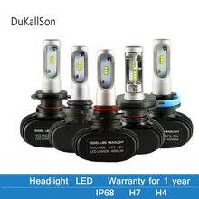 2Pcs CSP H8 H11 Lampe H4 Led H7 H1 H3 Auto Scheinwerfer Lampen Für Auto S1 N1 H27 881 HB3 HB4 Led Automotive 12V 50W 8000LM 6500K