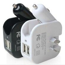 USB chargeur de téléphone portable pliable voiture allume-cigare et prises murales 2in1 universel mobile GPS SLD01 5 V 2.1A chargeur de voyage à la maison
