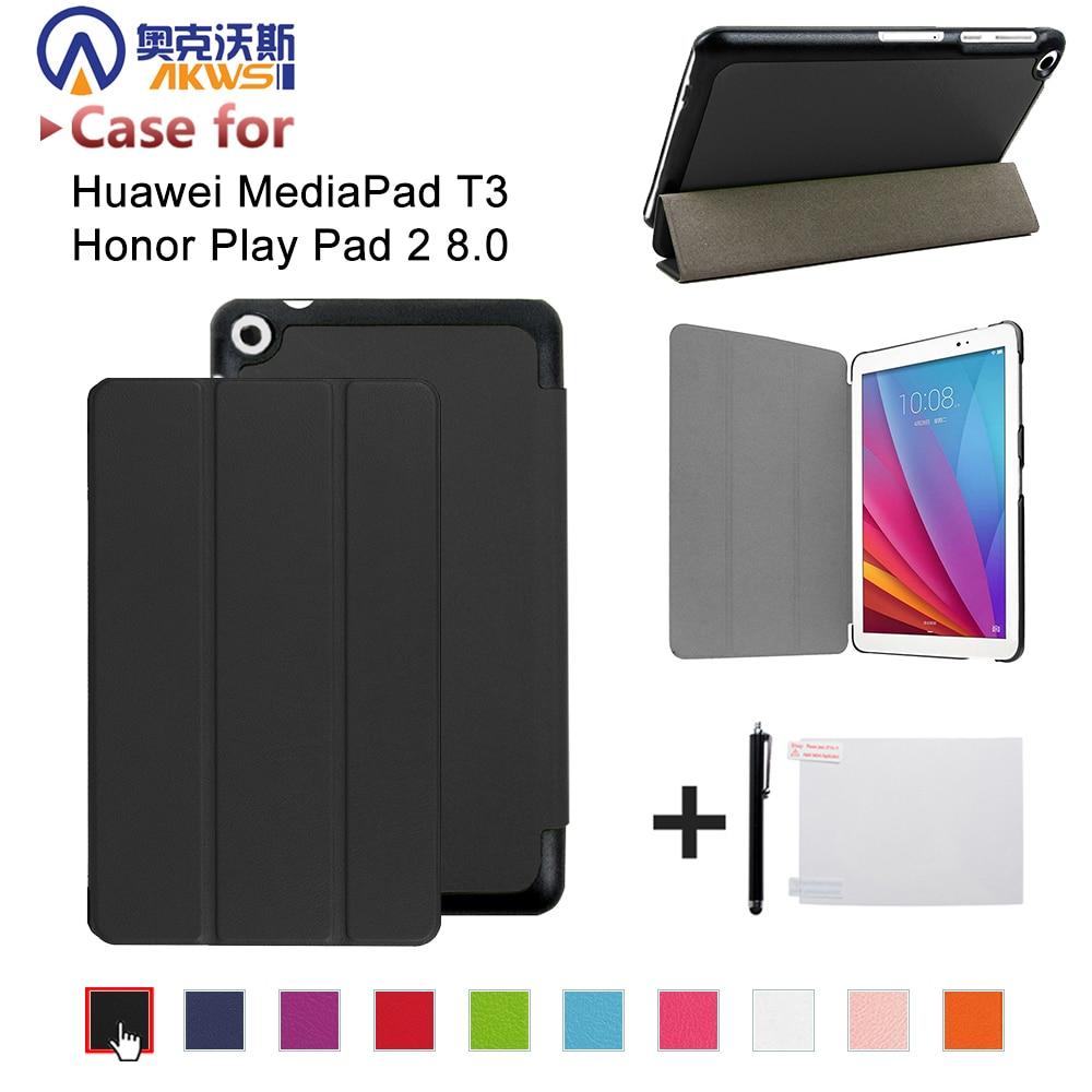 Caso para Huawei MediaPad T3 8,0 KOB-L09 KOB-W09 para huawei Tablet de 8 pulgadas de cuero PU funda para Honor Juego de 2 8,0