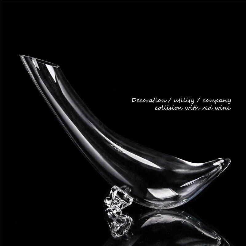 Creativo estilo europeo Artificial que sopla la barra fría Manual del hogar 600ml decantador de vino de cristal sin plomo