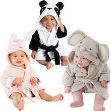 Baby Infant Girl Boy Cotton Hooded Bath Towel Wrap Bathrobe Cute Cartoon Mouse/Panda/Bunny  Design 1-5Y
