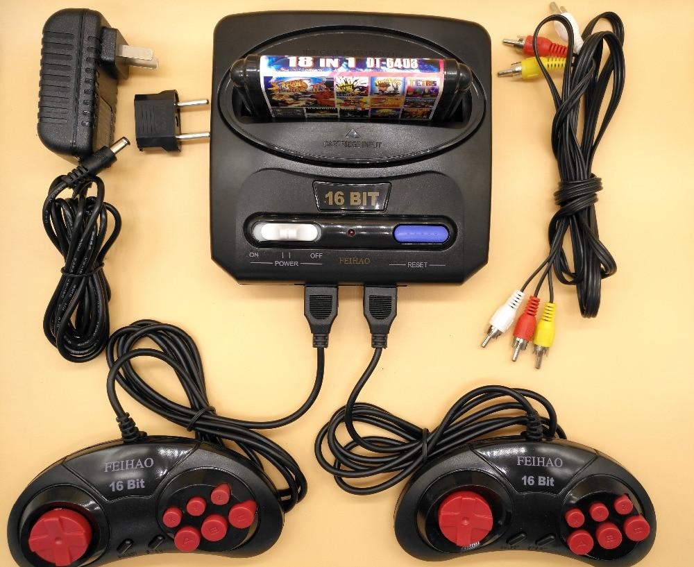 FEIHAO-Consola de Videojuegos TV Retro Para MegaDrive, Cartucho de juego de 16...