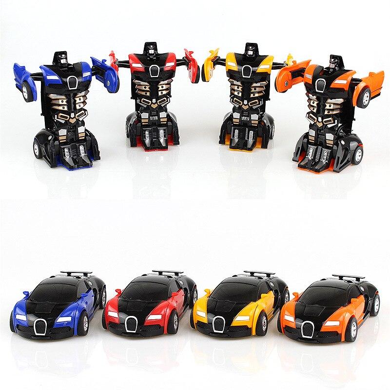 Nuevo modelo de coche de Robots Robocar Crash de 12cm en 4 colores, juguetes clásicos, figura de acción, juguetes para niños, modelo de coche musical