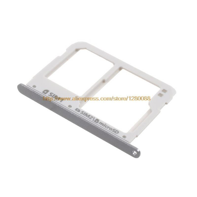 10pcs/lot New SIM Card Holder for Samsung Galaxy A3 A5 A7 A310 A510 A710 2016 Dual SIM Micro SD Card Tray Slot Replacement