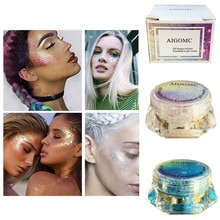 Aigomc Eye Glitter Nail Hair Body Face Glitter Gel Art Flash Heart Loose Sequins Cream Festival Glit