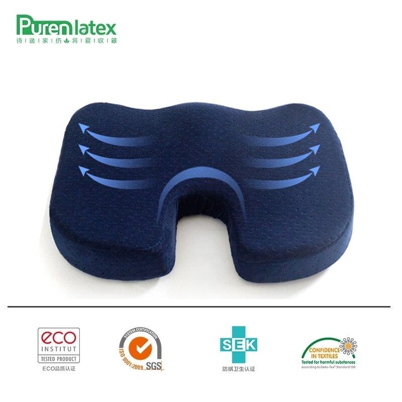 PurenLatex 45*35*7 U Form Langsam Rebound Weiche Memory Foam Sofa Büro Stuhl Hüften Kissen Sitz Kissen pad Lenden Steißbein Schützen