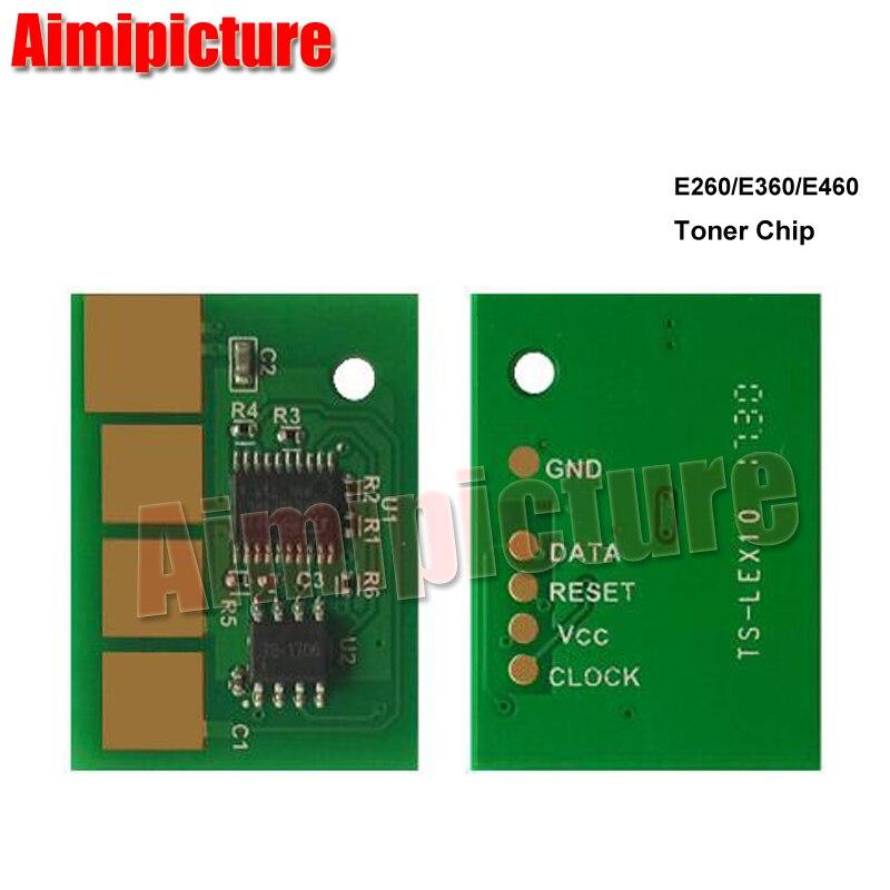 15 K E260 E360 X463 E460 E462 X464 X466 E260d E460dn E360dn Chip de cartucho de tóner para Lexmark 4 unids/lote