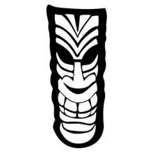 6cm * 14,2 cm Tiki Tolteca Hawaii Cartoon Auto-Styling Aufkleber Decals Schwarz/Silber S3-5126
