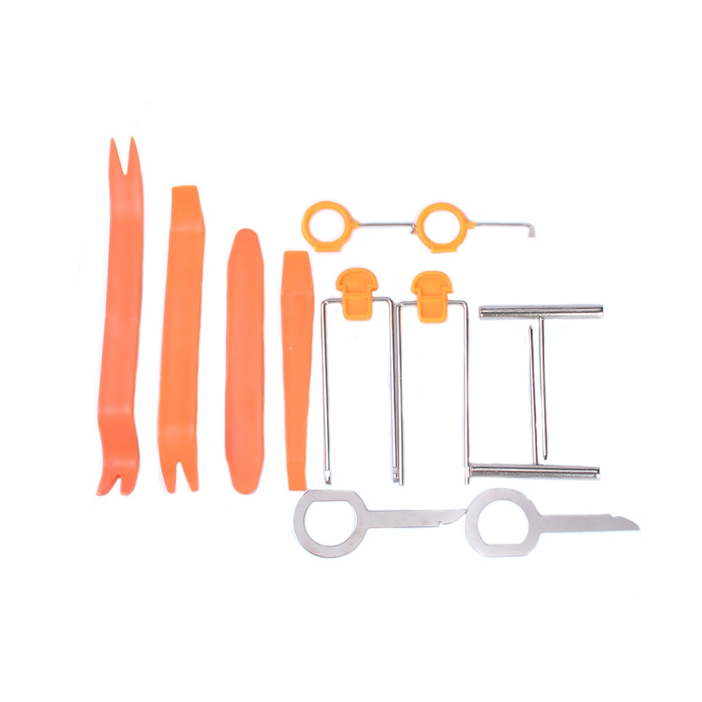12pcs/set Professional Vehicle Dash Trim Tool Car Door Panel Audio Dismantle Remove Install Pry Kit Refit Set Hand Tools Set