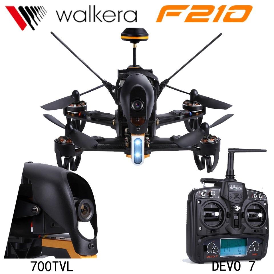 Walkera Original F210 corredor profesional Drone con 700TVL Cámara 5,8G FPV RTF Quadcopter RC con DEVO 7 transmisor