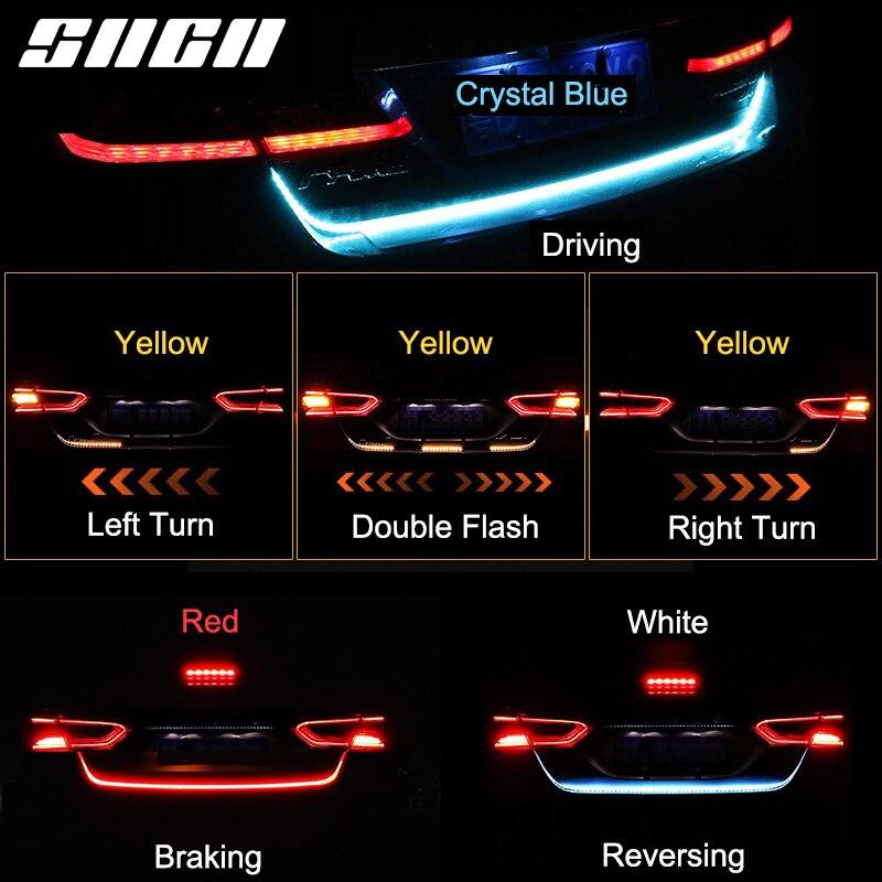 SNCN tira de luz para maletero del coche LED dinámica luces traseras tipo cinta para Citigo Skoda Fabia rápido Octavia Superb Karoq Kodiaq impermeable