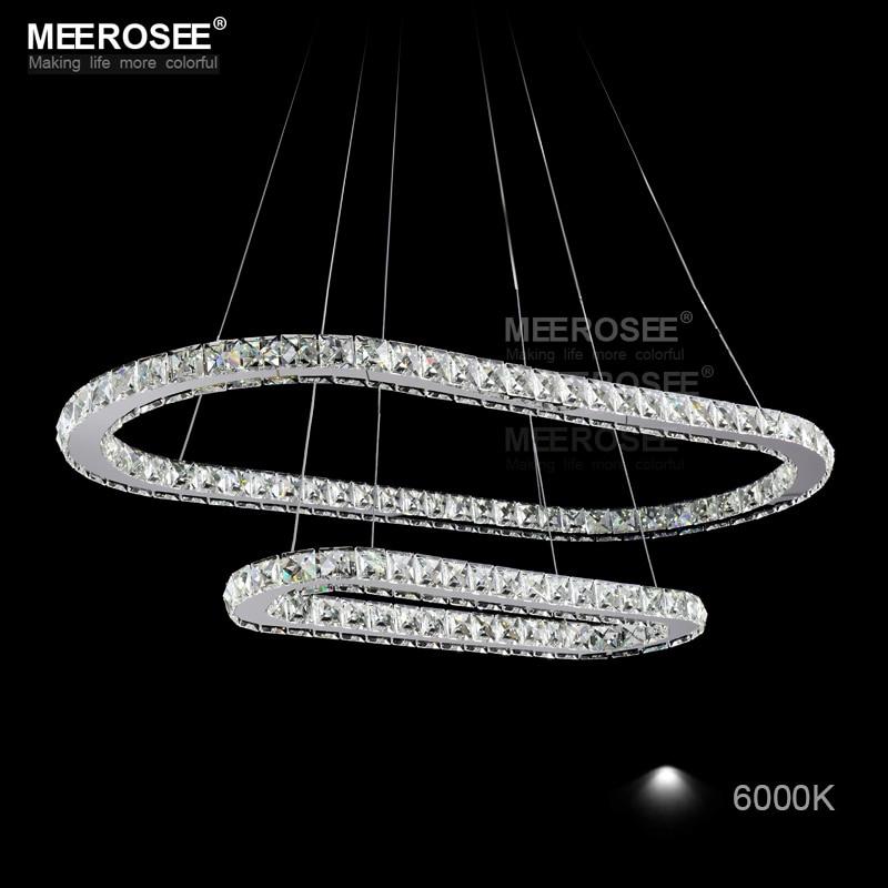 Moderne Oval LED Kristall Kronleuchter LED Kristall Licht Fixture lustre de teto led streifen Tropfen Lampe Für Esszimmer