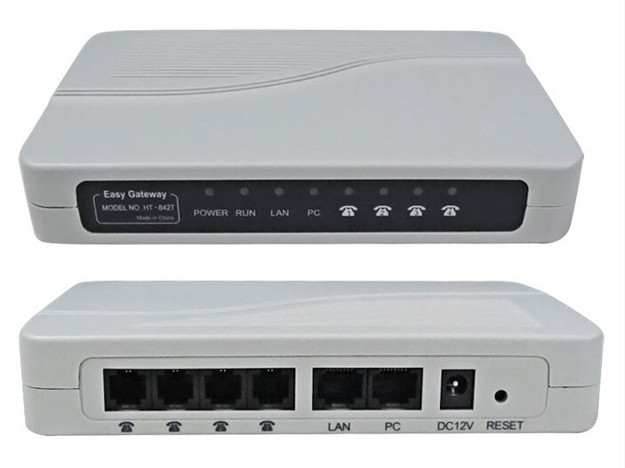 HT-842T de 4 puertos Fxs, entrada VoIP ata HT842T/FXS Gateway/ATA(SIP), buena calidad