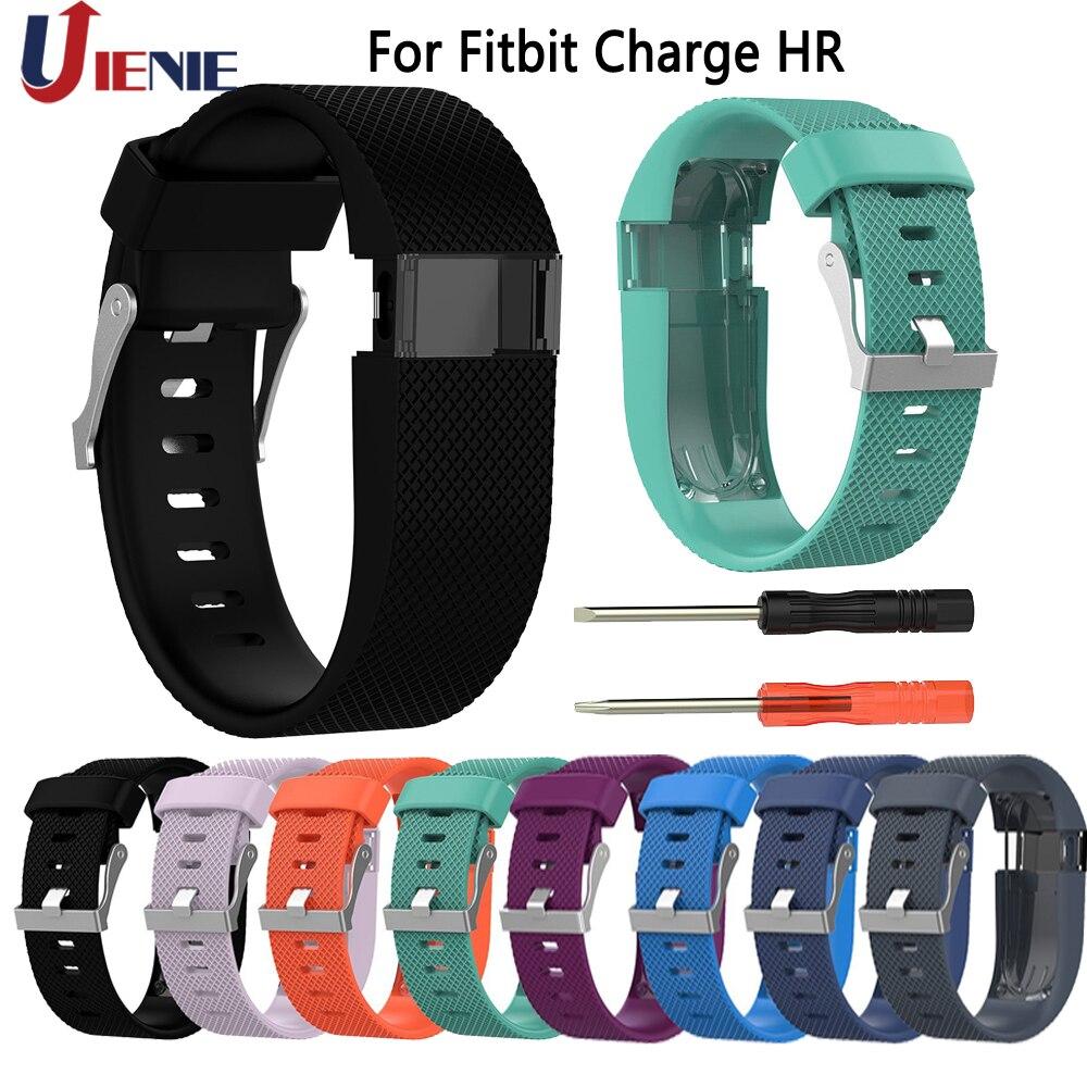 Fitbit Charge HR-Correa para reloj inteligente, correa de silicona con hebilla metálica, repuesto de pulsera para Fitbit Charge HR