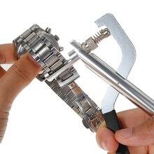 Набор инструментов для ремонта часов, металлический инструмент для часов, инструмент для удаления стальной ленты, плоскогубцы, регулятор связи с 3 запасными контактами, аксессуары для часового инструмента
