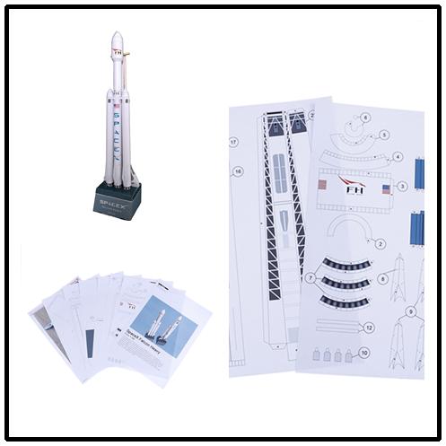 Rompecabezas modelo de papel 3D cohete resistente 42cm 1 160 SpaceX Falcon estudiante Clase de mano DIY espacio papel modelo juguete de origami
