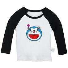 قمصان للأطفال حديثي الولادة برسوم كارتونية غاضبة من Garfield Doraemon Nobita Nobi My Neighbor Totoro بأكمام طويلة