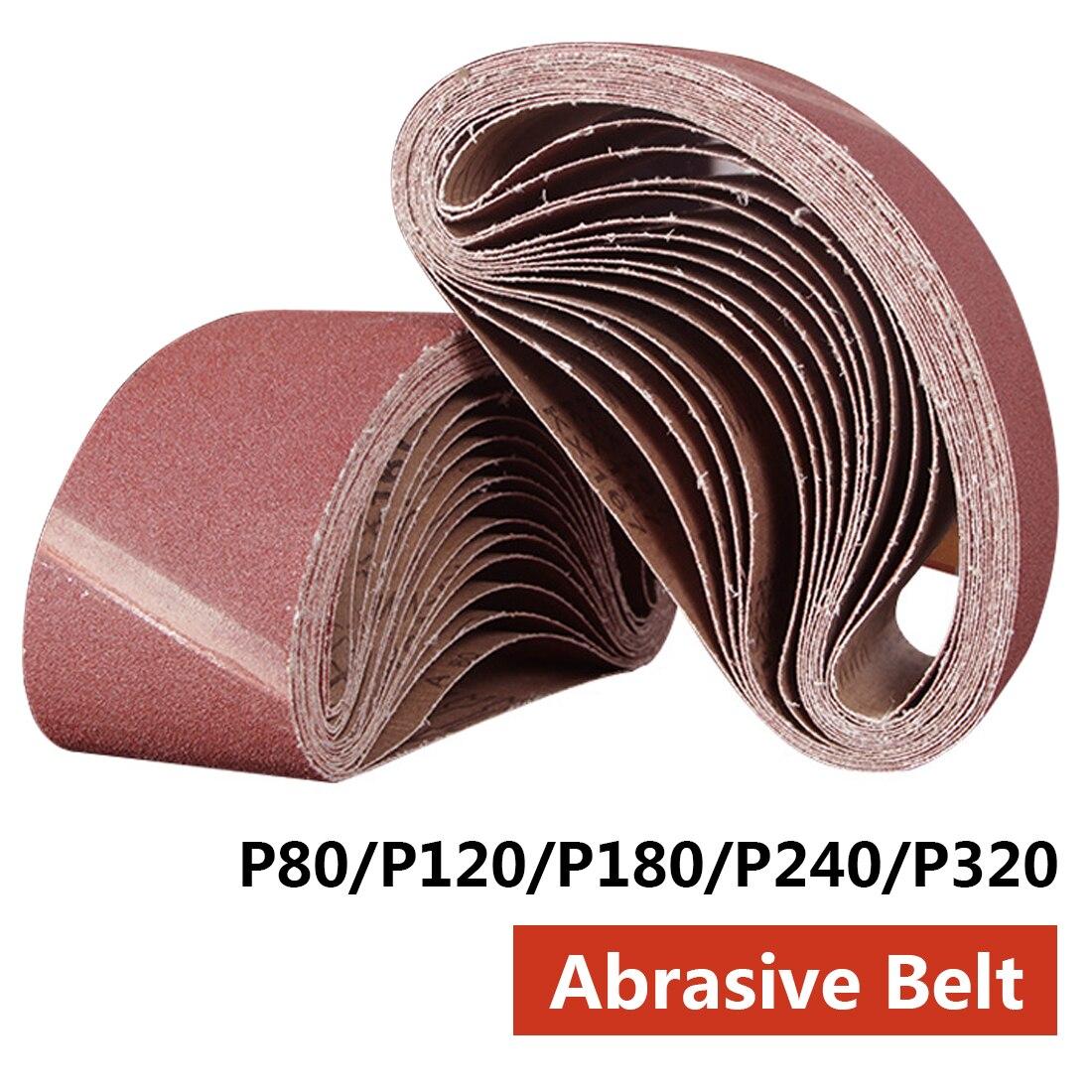Herramienta abrasiva 533x75mm bandas de lijado 80-320 bandas de papel lija abrasivo para lijadora herramientas eléctricas giratorias accesorios dremel