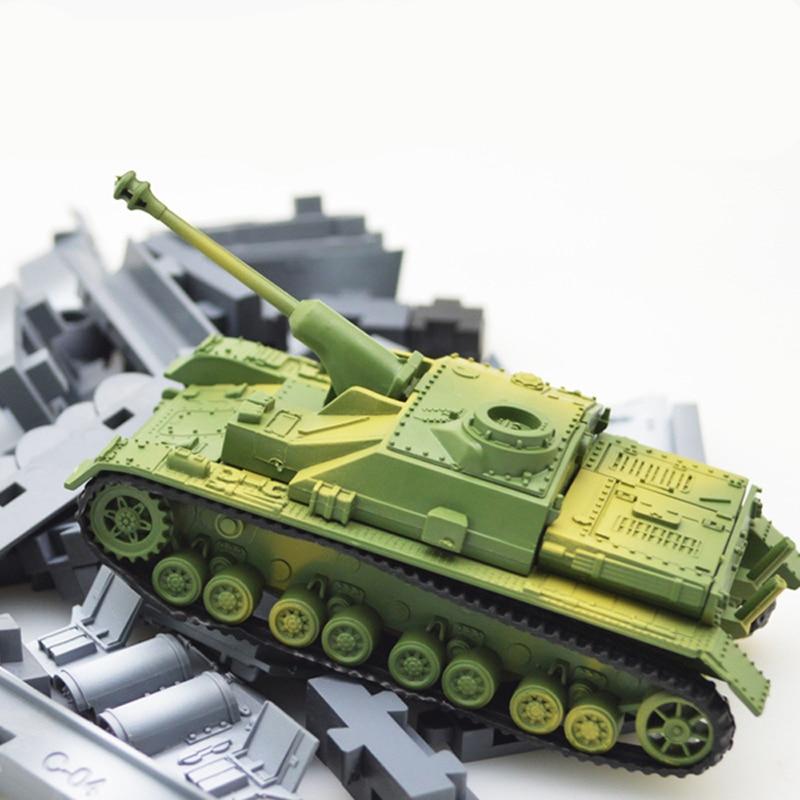 Bloco de Construção de Brinquedos educativos para Crianças Tanque 4D Kits de Montagem Brinquedos Decoração de Alta-densidade de Material Militar