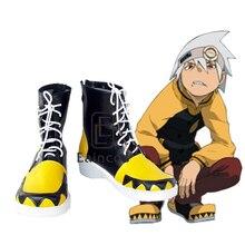 Anime Soul Eater SOULEATER Cosplay Party chaussures noir fantaisie bottes sur mesure