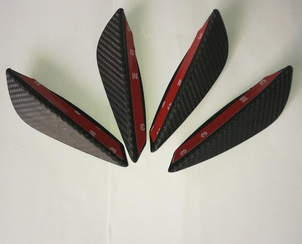 4 unids/set ABS de carbono estilo de fibra coche alerones para parachoques frontal labio conservas divisor Trim Kit