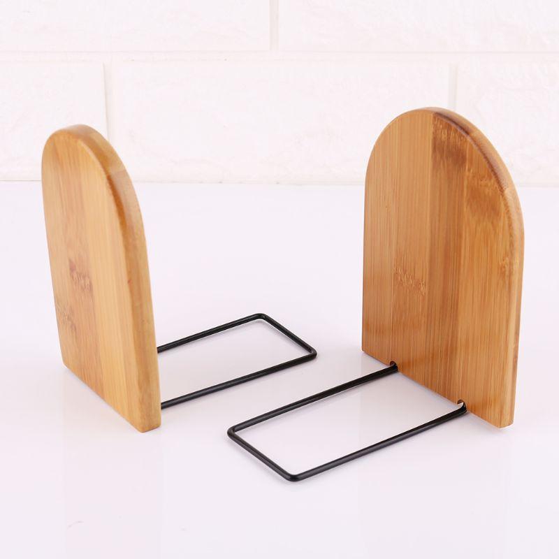 Натуральный Бамбуковый Настольный органайзер для офиса и дома, концы книг, подставка, держатель, полка Bookrack