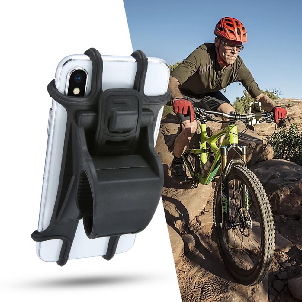 Universal Phone Holder Bicycle Holder For Phone Mobile Phone Bracket Bike Phone Non-Slip Silica Gel Support Bike Handlebar Stand