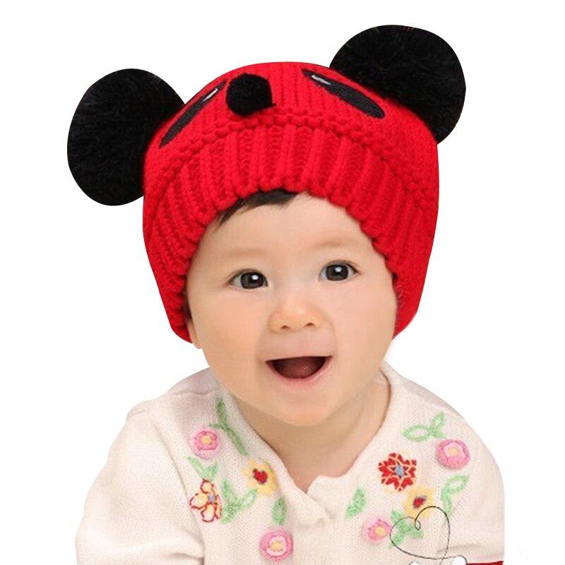 20 pçs/lote SINGYOU Adorável Panda Animal Bebê Criança Tampão Bonito Crochet Beanie Skullies Chapéus Crianças Inverno Caps Quentes