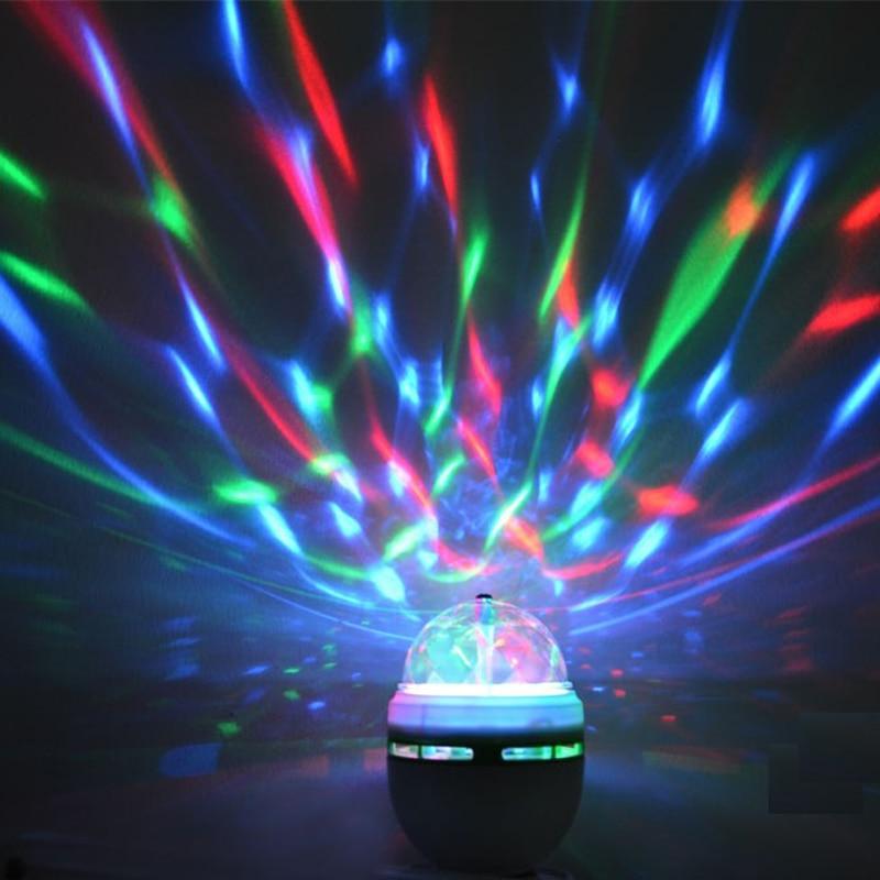 E27 3W 6W Colorful Auto Rotating RGB LED Bulb Stage Light Party Lamp Disco DJ KTV Dance Lights lamps decorations celebration