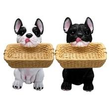 Boîte de rangement créative en résine   Boîte de rangement amusante en résine pour chien et panier, décoration de la maison