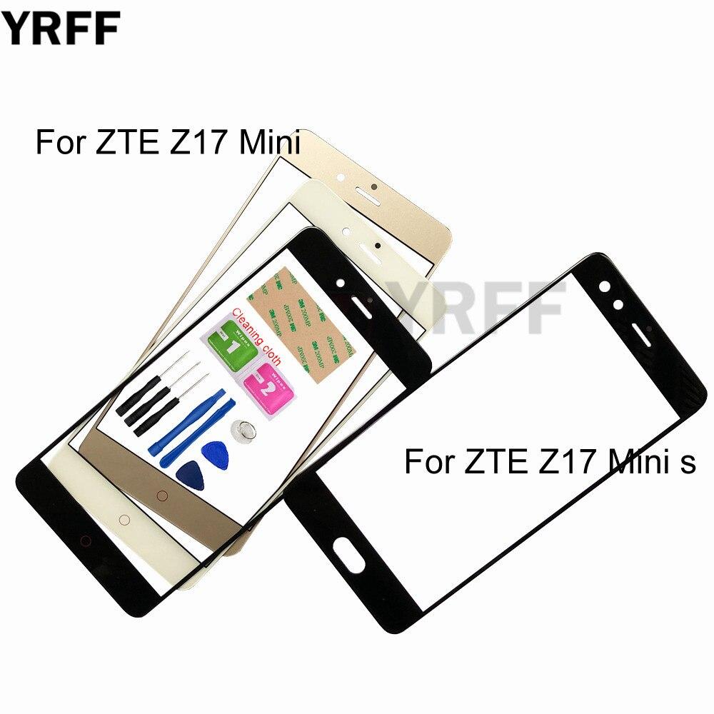 Z17 Mini móvil (Panel sin Digitalizador de pantalla táctil) Vidrio exterior para ZTE Nubia Z17 Mini S reemplazo de Panel de vidrio frontal