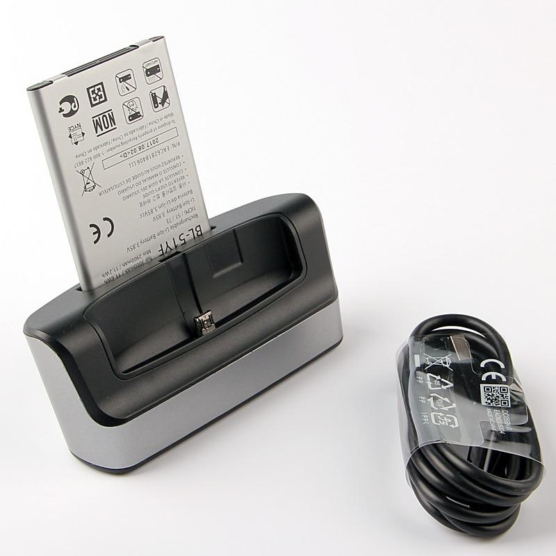Dual Charger dock + original LG BL-51YF batterie Für LG G4 H815 H811 H810 VS986 VS999 US991 LS991 F500 G Stylo F500 F500S F500
