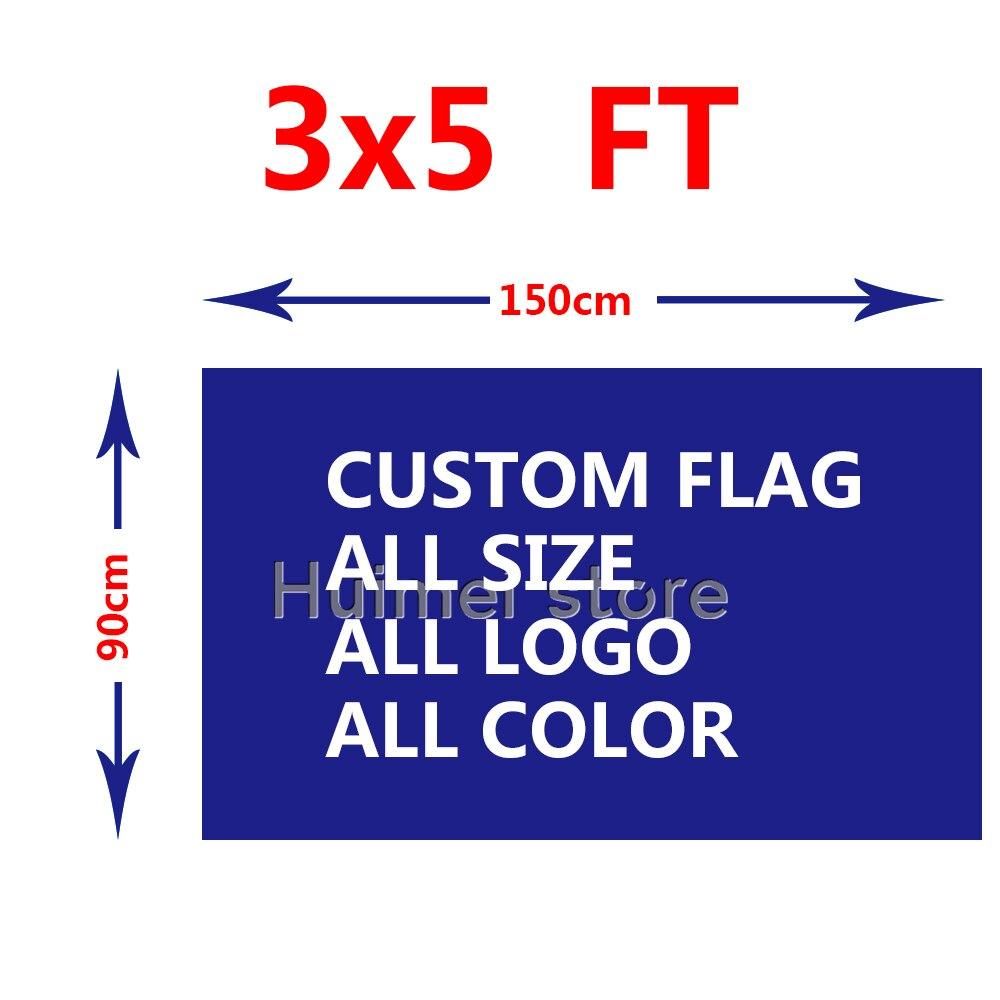 Custom double side flag 150X90cm (3x5FT) 130g 100D Polyester all logo all color flag
