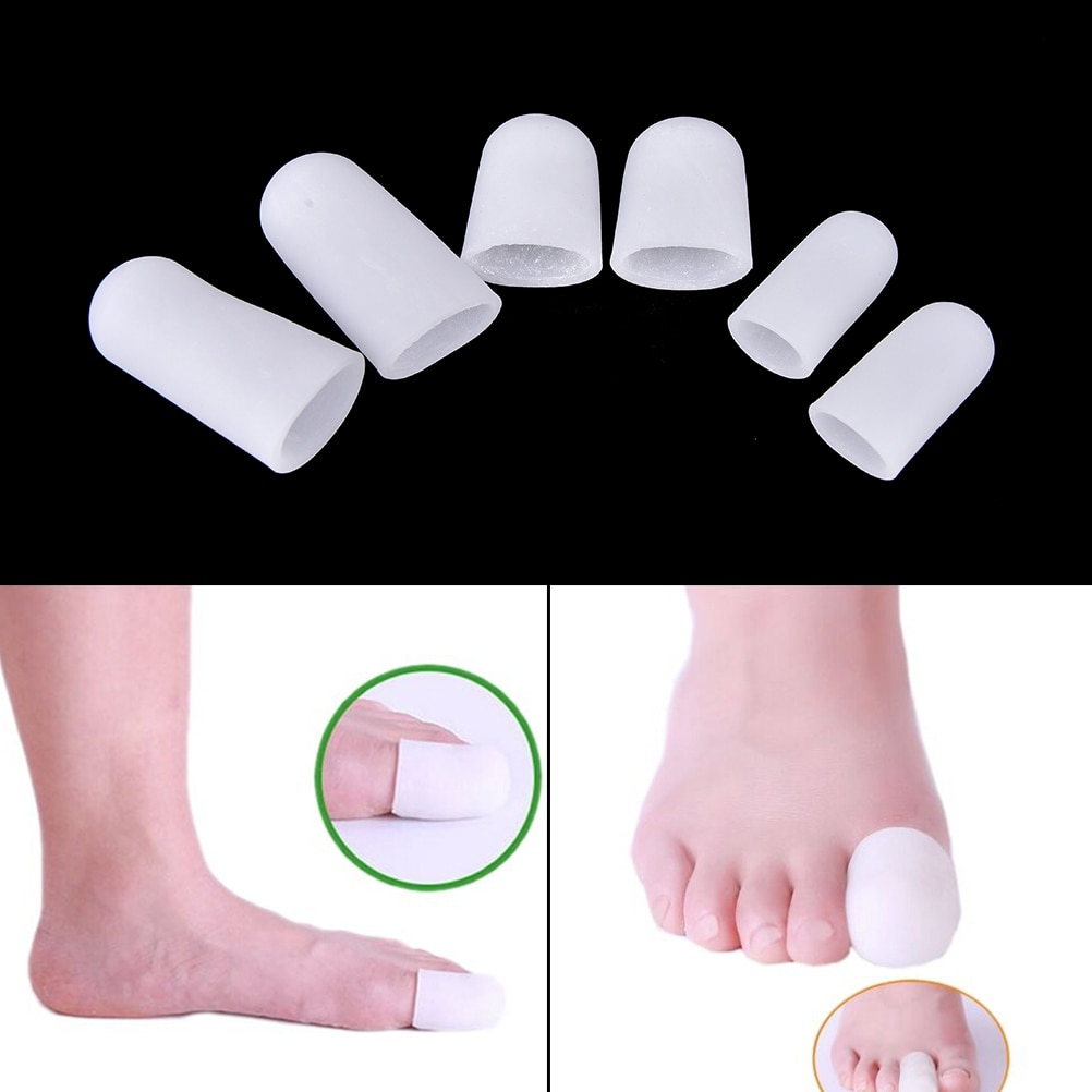2Pcs Silicone Gel Tube Bandage Finger & Toe Protectors Foot Feet Pain Relief Guard for Feet Care ins