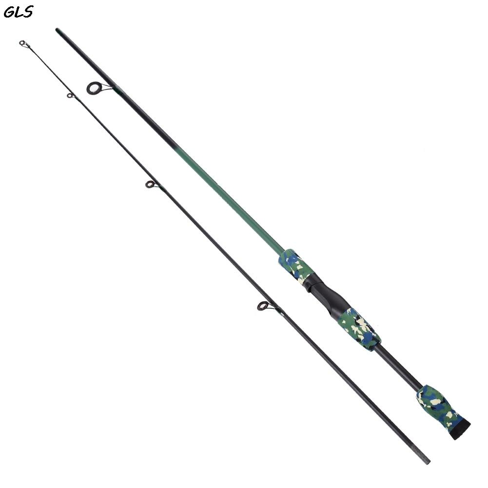 3 farben 1,8 Mt tragbare angelruten 1/8-3/4 unze Test M Test Kohlefaser Camouflage Lure Casting Spinning Angelrute