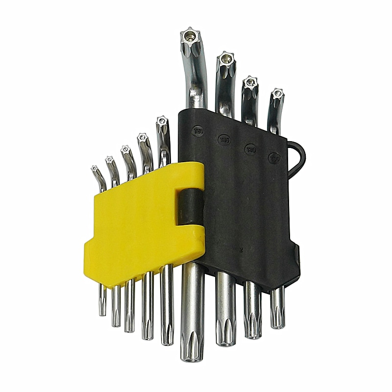 Chiave di Coppia Torx Socket Chiave Esagonale 9Pcs Set T10-T50 Universale Esagonale Set di Chiavi Chiave