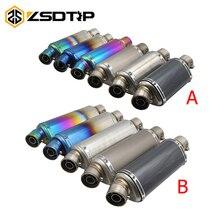 ZSDTRP uniwersalny 38-51 MM wydechowy tłumik rury wydechowej rury Slip-On ze zdejmowanym DB zabójca dla silnik skuter ulicy /Dirt Bike ATV Quad