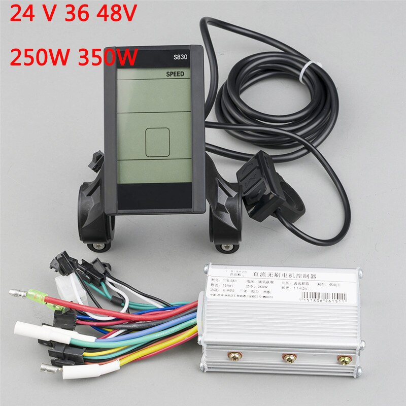 BLDC 24V 36V 48V 250W 350W Controller Brushless Kit With USB Function LCD For E scooter E bike Electric Bicycle Umbausatz Set