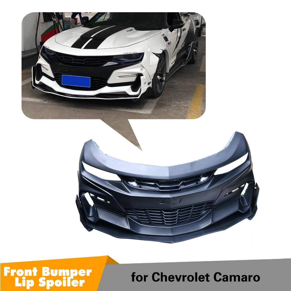 Parachoques frontal FRP con divisor de labios, ventilación de aire para Chevrolet Camaro, parachoques delantero, Kits de carrocería de alerón 2016 - 2018