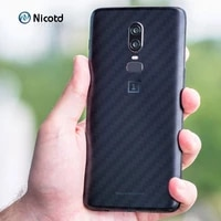 nicotd 5pcslot 3d carbon fiber back cover screen protector for one plus oneplus 6 5t 5 3 3t 2 x sticker protective film for 16