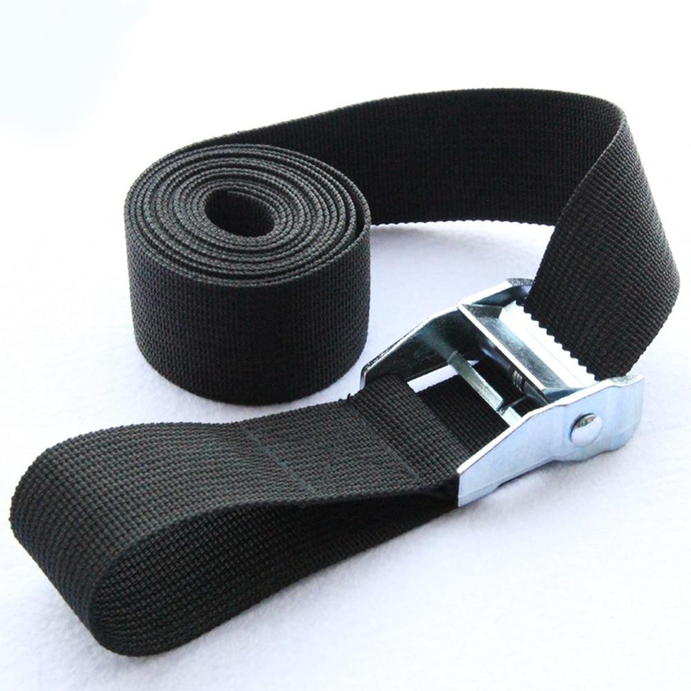 1m/2m/3m/4m/5m/6m *25mm Black Waist Tie Down Strap Strong Ratchet Belt Luggage Bag Cargo Lashing With Metal Buckle