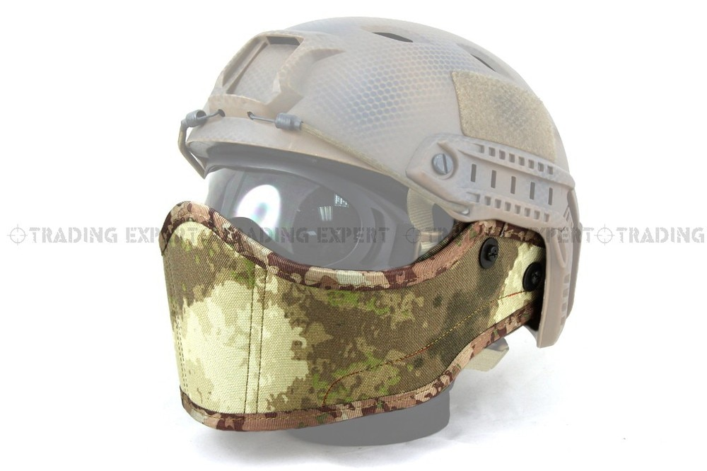 Couverture de visage en Nylon 1000D pour casque rapide Airsoft (A-TACS vert Marpat désert ACU BK crâne CB Marpat boisé MC) bd6635f