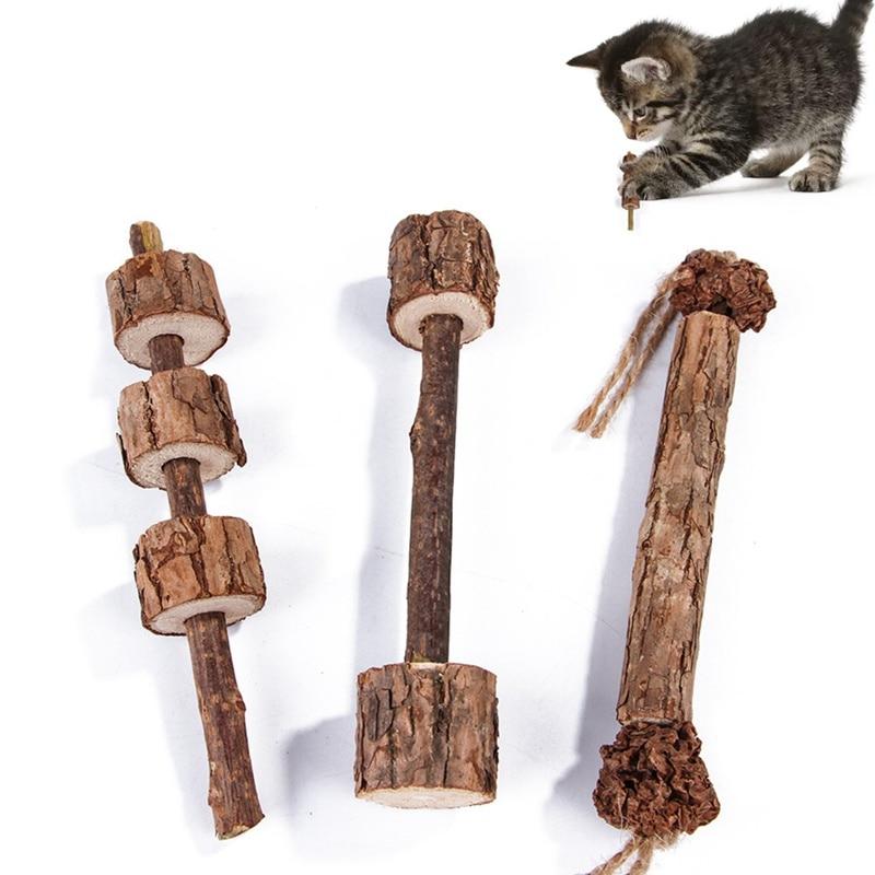 Limpeza Dos Dentes do gato Varas Actinidia Polygama 3 haped Opções de Lanches Vara Do Gato Catnip Natural Pet Molar Dental Vara S