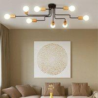LED Ceiling lights For Foyer Round Ceiling Lamp Modern Metal Bedroom Lightings Wooden Room Lighting Kitchen Wood Lamps
