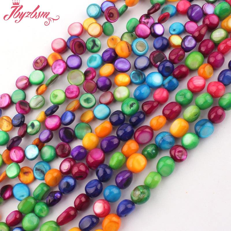 """3x5-4x6mm Nautral Stone Beads irregulares Multicolor Shell MOP Beads para DIY collar pulsera joyería fabricación 15 """"envío gratis"""