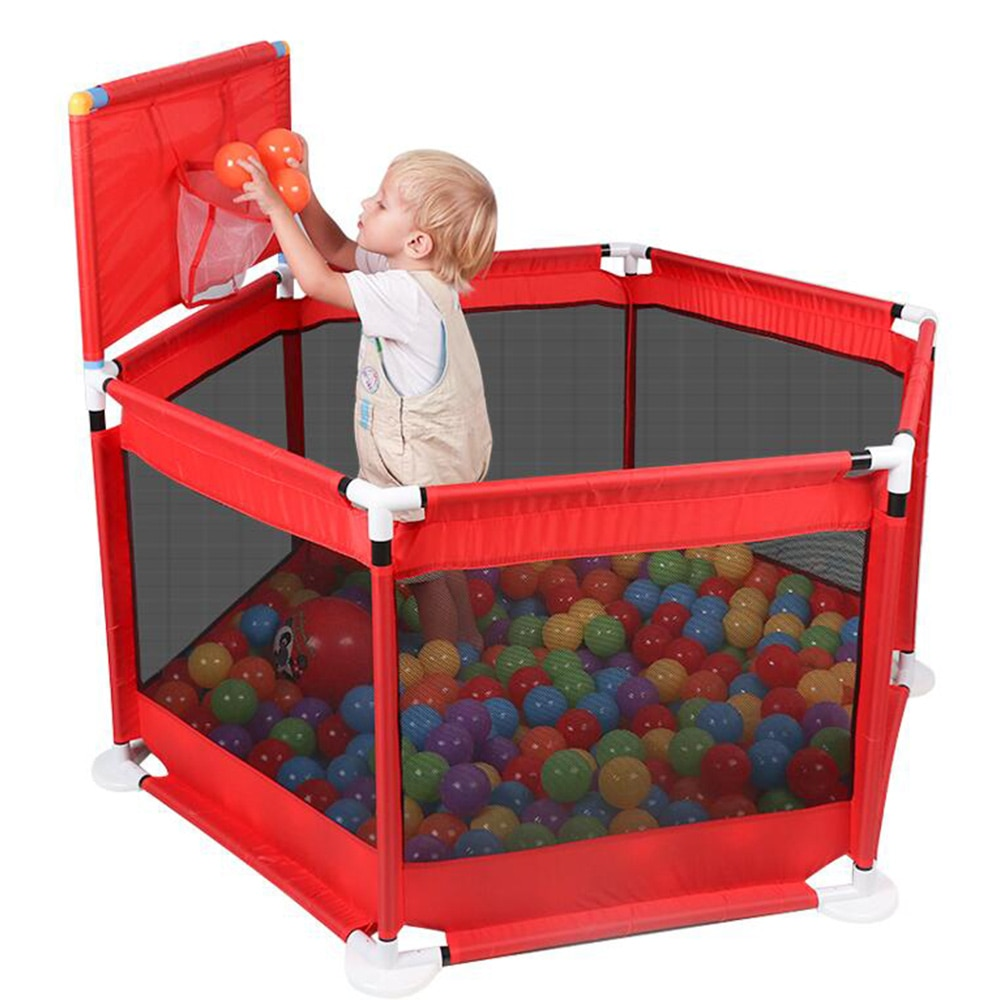 Corralito de valla portátil para niños, barrera segura para PISCINA DE BOLAS para cama de 0 a 6 años, corralito para niños, tela Oxford, pelotas de piscina, cerca para niños